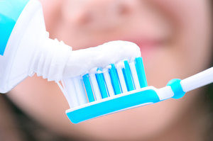 Brushing is important to oral health.