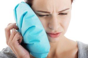 A woman has severe TMJ